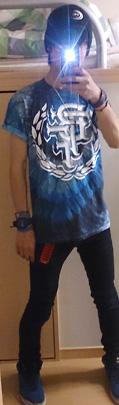 Bless The Fall / ブレス・ザ・フォール - Crest 2.0 Shirt (Tie Dye) タイダイTシャツのクールなコーデ